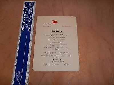 Original 1926 S.s. Majestic Luncheon Menu, Second Class - White Star Line