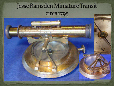 Jesse Ramsden Miniature Surveying Theodolite 18th Century, Only 1 Known