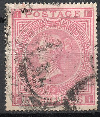 (319) Very Good Lightly Used 1874 Sg126 Qv 5/- Rose Plate 2