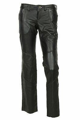 NEW - Harley-Davidson Womens Leather Riding Pants Black 98065-13VW  size 10 $225