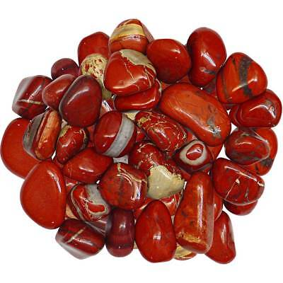 1/2 Pound Red Jasper Tumbled Stones!
