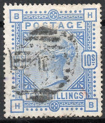 (324) Very Good Lightly Used 1884 Sg183 Qv 10/- Ultramarine