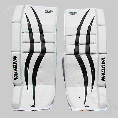 Vaughn V7 VPG XF Youth Hockey Goalie Leg Pads - White/Black (NEW) Lists @ $230