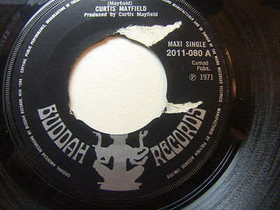 "Curtis Mayfield – Move on Up 1971 7"" Buddah 2011-080"