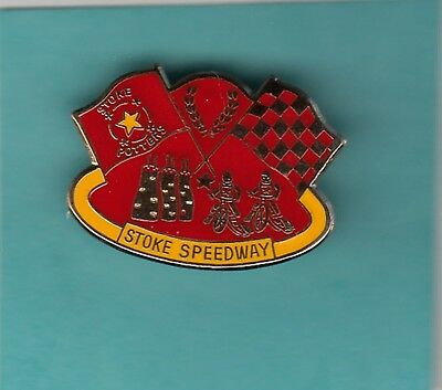 Stoke    Potters   Gold    Speedway   Badge