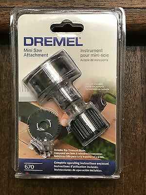 ORIGINAL BRAND NEW Dremel 670 Mini Saw Attachment-FACTORY SEALED