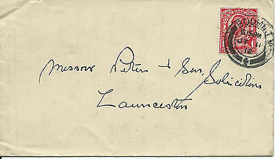 GB 1912 Downey 1d Cover with Bodmin Double Circle CDS to Launceston