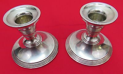 Vintage Pair of Matched Preisner Weighted Sterling Silver Candlesticks(112)