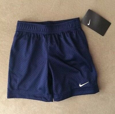 NWT Nike Boy's Toddler Blue Navy Athletic Shorts Mesh Size 3T 766650 $20