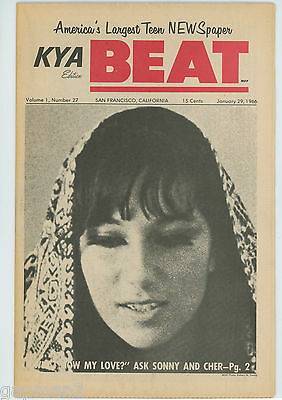KYA Beat 1966 Teen Paper #27 Sonny & Cher Yardbirds Beatles Cannibal The Byrds