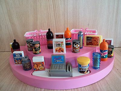 Barbie Huge Job / Bundle Lot of Groceries & Drinks Bottles with Shopping Baskets