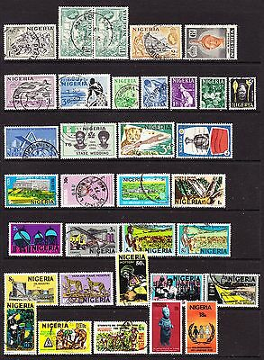 A Selection of Nigeria Stamps (M17-166)