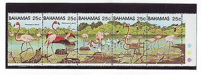 1982 - SG 617/621 (se-tenant with gutter) - Greater Flamingos - Mint (1039)