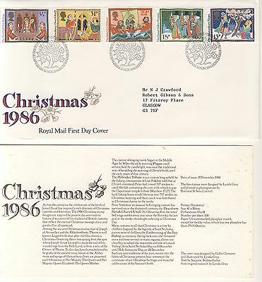 1986 - Christmas 1986 - First Day Cover - #030