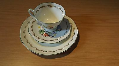 Collectable China Trio, Hand Painted Flower design
