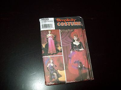 Simplicity Costume Pattern Ladies Can Can Girl # 9899 Sz. 6-12 New, Uncut