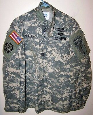 Us Army Acu Combat Uniform Coat - Small/regular - Infantry Ranger - Combat Vet