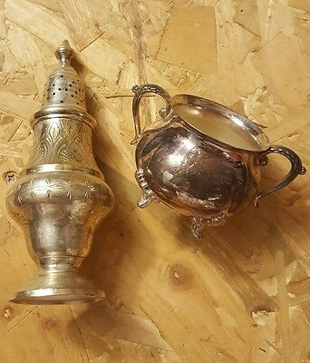 Vintage Silver-plated Sugar Cocoa Shaker and Bowl