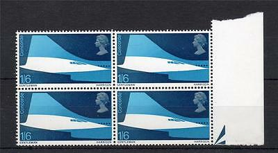 1/6 CONCORDE UNMOUNTED MINT BLOCK WITH PHOSPHOR OMITTED Cat £36