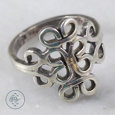 Vintage Sterling Silver | TAXCO Tribal Scroll 3.9g | Ring (6) MX3163