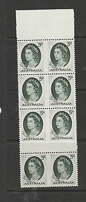 Australia 1963 5d Green the Imperf pairs, though this seems unsual to me, UM/MNH