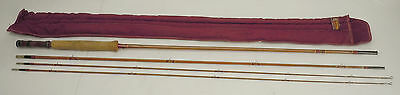 Vintage Heddon #20 Split Bamboo 9 Foot 3 Piece Fishing Fly Rod Pole