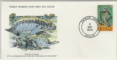 World Wildlife Fund First Day Cover - Ivory Coast - No 142 - The Manatee