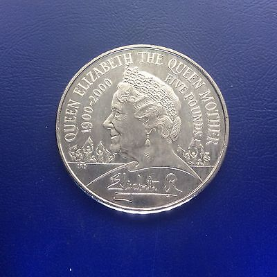 2000 FIVE POUNDS COIN CELEBRATING THE QUEEN MOTHER'S 100th BIRTHDAY