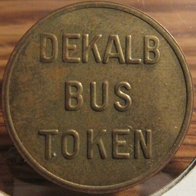 1981 Dekalb, IL Transit Bus Token - Illinois
