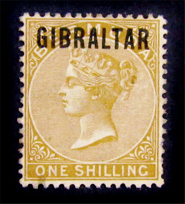 nystamps British Gibraltar Stamp # 7 Used $500
