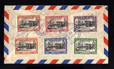 16127-COSTA RICA-AIRMAIL REGISTERED COVER SAN JOSE to BROOKLYN (USA) 1947.WWII.