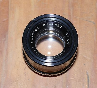Gino Anastigmat f/4.5 105mm 39mm mount enlarger Lens