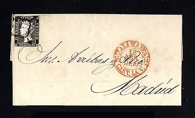 16134-SPAIN-ESPAÑA-COVER LETTER SALAMANCA to MADRID.1850.Nº 1.ISABEL II.Carta
