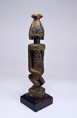 A Highly Stylized Dogon female ancestor sculpture, African Art