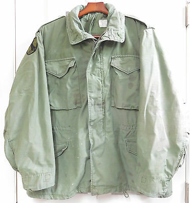 U.S. O.D. M-65 Field Jacket in Large Regular-11th ACR 1969
