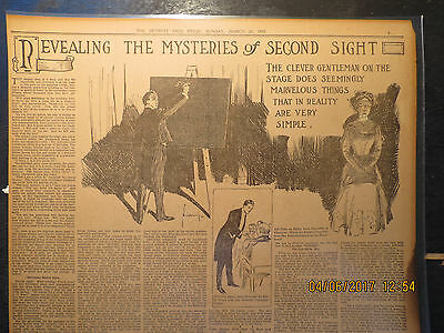 Revealing Mysteries of Second Sight Stage Reality Simple Newspaper 1910