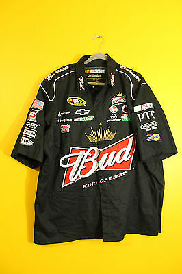 New Kevin Harvick #4 Budweiser NASCAR Racing style pit crew shirt men's XXL