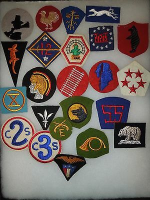 WWI & WWII US Army Patch King Insignia Lot Collection Infantry Divisions Corps