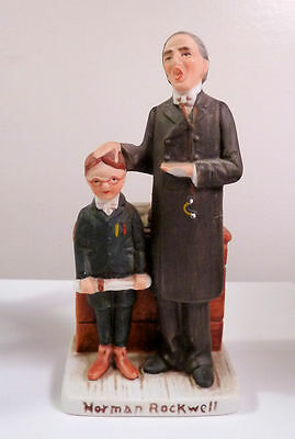 Norman Rockwell Figurine 1979 Dave Grossman Design TWO SCHOLARS