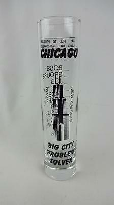 Chicago Sear Willis Tower Tall Shot Glass - Big City Problem Solver Bar Man Cave
