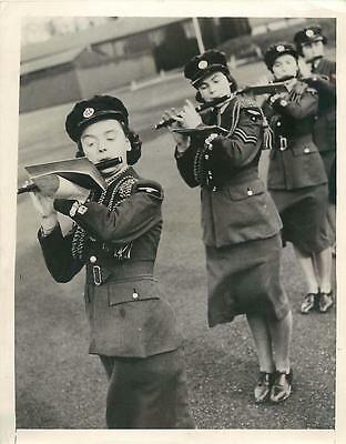 WWII Fife Section of British Women's Auxiliary Air Force Band Orig Press Photo