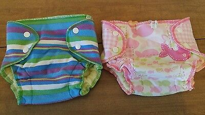 Nifty Nappy cloth swim diapers, set of 2