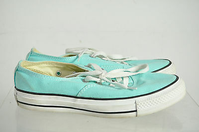 Converse All Star Cyan Lace Low Top Unisex Fashion Sneakers Shoes Size 5M 7W