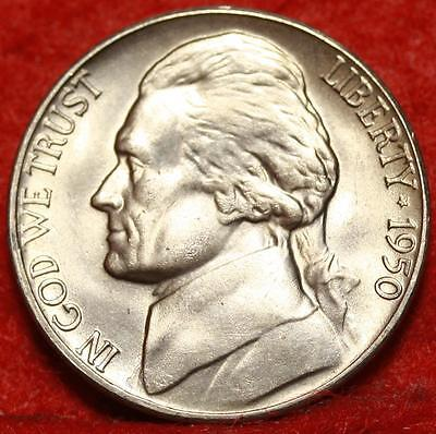 Uncirculated 1950-D Denver Mint Jefferson Nickel Free Shipping