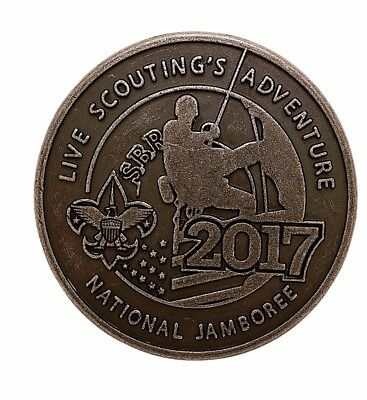 Boy Scout Official Licensed 2017 National Jamboree Pewter Neckerchief Slide New