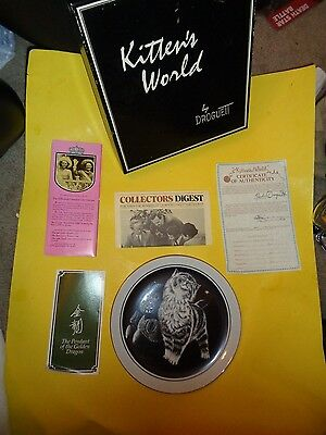 """Limited Edition """"Kittens World"""" Series """"Purr-fect Pleasure"""" 9""""Dia Plate in Box&C"""