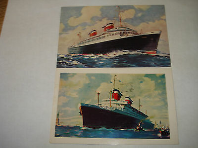 SS AMERICA US United States Lines 2PCs IRELAND Hollis NY ocean liner cruise SHIP