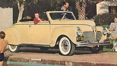 1941 Plymouth CONVERTIBLE Coupe + Station Wagon WOODY Big Page COLOR CAR AD