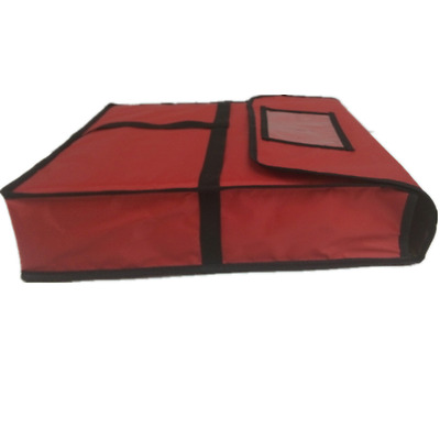 """Pizza Delivery Bag Food Storage Red Thermal Insulated Can Hold 2 18"""" Pizzas Pies"""