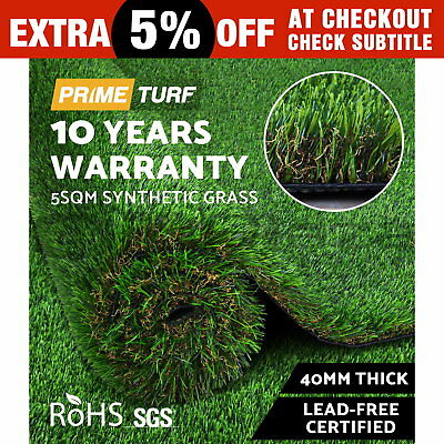 5SQM Synthetic Turf Artificial Grass Plant Fake Lawn Flooring 40mm